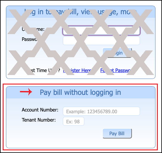 Pay Bill without An Account