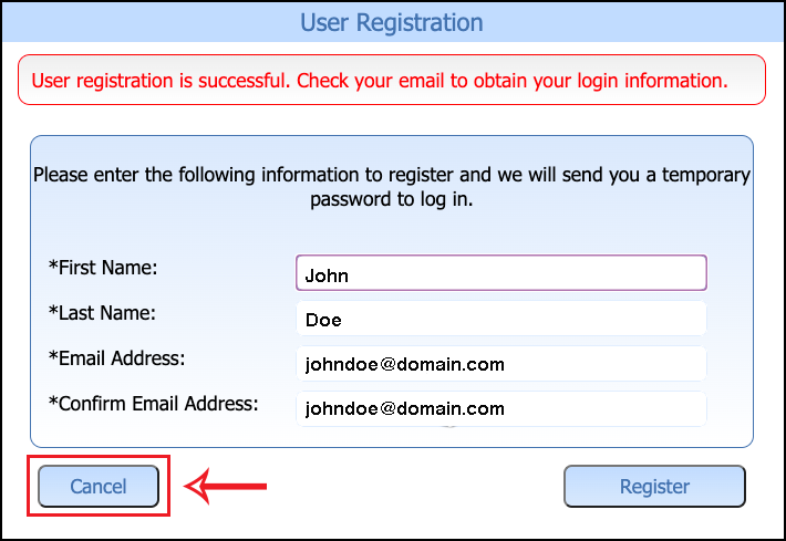 Bill Pay User Registration Success