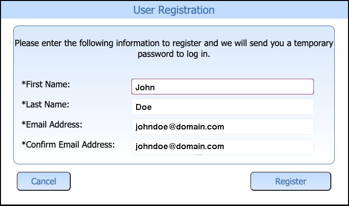 Bill Pay User Registration